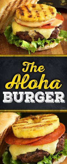 Say 'Aloha' to this sweet & savory burger, topped with Old Croc Sharp Cheddar and juicy grilled pineapple.