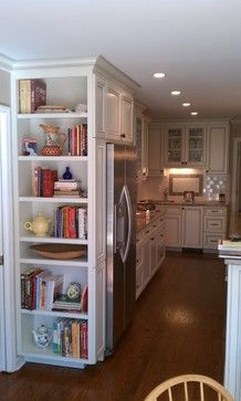 Thinking of adding something like this in my new kitchen. Bookshelf for cookbooks.