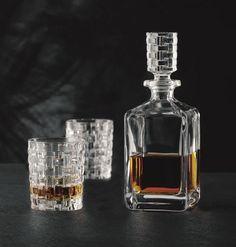 Nachtmann Bossa Nova Whiskey Decanter and Double Old-Fashioned Glasses, Set of 2 Whiskey Decanter, Whiskey Glasses, Williams Sonoma, Whisky, Matcha, Barware, Perfume Bottles, Crystals, Whiskey