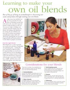 Learning to make your own oil blends
