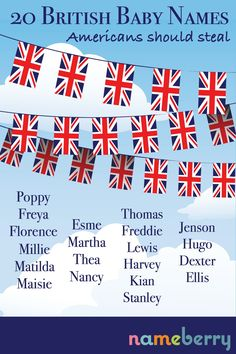 American parents, these 20 names are big in the UK, but under the radar in the US. Steal them now, before everyone catches on!