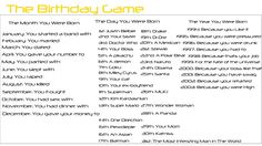 The Birthday Game