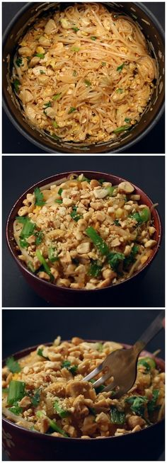 One Pot Pad Thai: