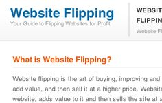 What is Website Flipping?