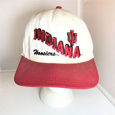 8b94a30365b University of Indiana Hoosiers Red White Snapback Baseball Cap   IndianaHoosiers Baseball Cap