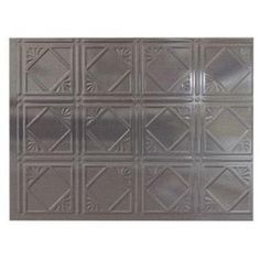 Backsplash for behind our stove/appliance area.  currently we have a black plastic type of splash, which darkens the space.  we have stainless front appliances which would work great with this product from home depot