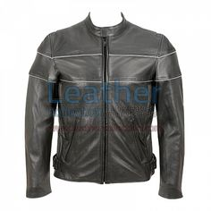 Reflector Stripe Piping Jacket For Motorbike for $264.00 - https://www.leathercollection.com/en-we/piping-jacket.html