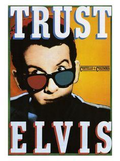 Elvis Costello poster by Paula Scher