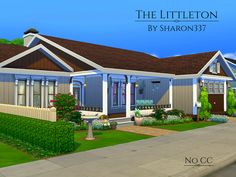 The Littleton is a family home built on a 30 x 20 lot in Newcrest on Cookout Lookout Lot.  Found in TSR Category 'Sims 4 Residential Lots'