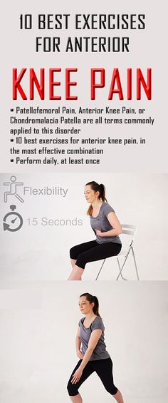 Here are 10 best exercises for ANTERIOR KNEE PAIN, in the most effective combination. #kneepain #anteriorkneepain