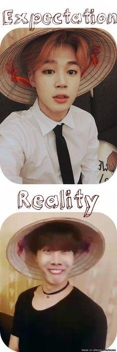 Expectation VS Reality Park Jimin Jung Hoseok BTS
