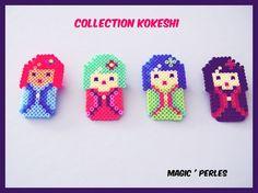 Kokeshi hama mini beads by magic-perles sur ALittleMarket