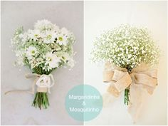 Buque Branco de Margaridinha e Buque de Mosquitinho | Daisy Bouquet and Baby´s Breath Bouquet