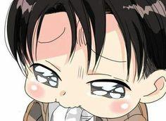 Levi chibi crying by anime guy i. Cute Anime Chibi, Chibi Boy, Kawaii Chibi, Anime Kawaii, Attack On Titan Meme, Attack On Titan Fanart, Ereri, Levihan, Fairy Tail