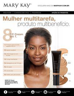 8 benefícios. 4 tonalidades. 1 passo para uma pele impecável. Vem conhecer o novíssimo CC Cream Multibenefícios FPS 15!!