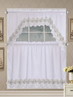 Cafe Curtains and Tier Curtains can be used in Kitchens, Bathrooms and many other places in your home. First let's discuss how they are used. Kitchen Window Curtains, Kitchen Window Treatments, Cafe Curtains, Tier Curtains, Country Curtains, Cool Cafe, Grey Kitchens, Soft Furnishings, Floral Embroidery