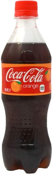 Japanese Orange Flavored Coca-Cola $3.00 http://thingsfromjapan.net/orange-flavored-coca-cola/ #Japanese coca cola #Japanese drink #Japanese snack