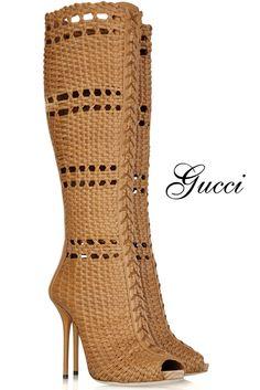 Chaussures originales : Bottes tressées Gucci