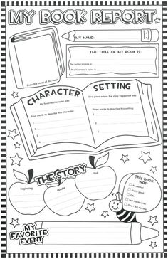 004 Template Ideas X Book Resport Page Free Report Wondrous with regard to Grade Book Report Template - Best Sample Template Book Report Templates, Book Review Template, Story Map Template, Writing Template, Essay Template, Library Lessons, Library Skills, Math Lessons, Readers Workshop