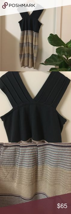 "Knit ""V"" strap Midi dress. Sweater knit material.  Never been worn. Anthropologie Dresses Midi"