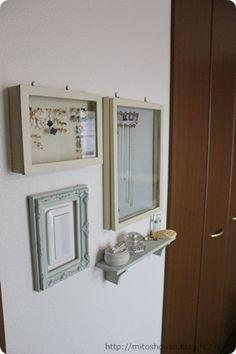 リビングのインテリア・収納2 アクセサリー収納 セリア(100均)でDIY - Ms house