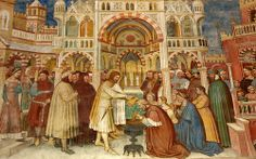 Saint George baptizing Servius, Altichiero da Zevio Oratorio di San Giorgio Padova ALTICHIERO DA ZEVIO (Zevio, 1330 circa – Verona, 1390 circa) #TuscanyAgriturismoGiratola
