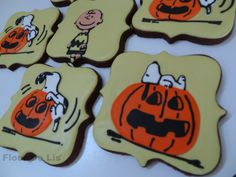 Charlie Brown Halloween Cookies, by Flour De Lis