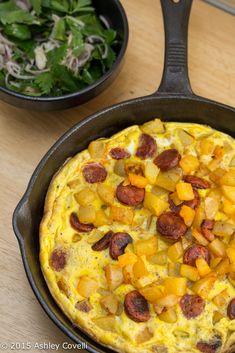 Potato & Chorizo Omelette with a Kinda Parsley Salad Recipe   Big Flavors from a Tiny Kitchen