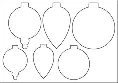 FREE Printable Christmas Ornament Templates - Felt | SEW: Christmas ...
