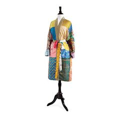Look what I found at UncommonGoods: Upcycled Sari Lounge Robe - Silk for $58 #uncommongoods