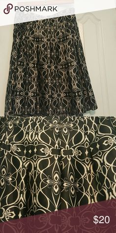 Skirt Black Skirt with beautiful print Mossimo Supply Co Skirts A-Line or Full