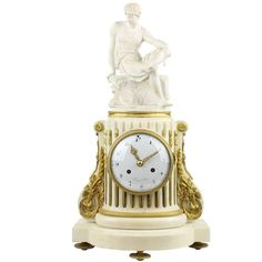 Awesome Rare Pendule Louis Seize Louis XVI France circa Signed