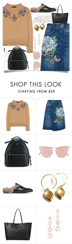 """random look <3"" by itzcandyz ❤ liked on Polyvore featuring Dolce&Gabbana, Fendi, So.Ya, Gucci, Alexander McQueen and Rebecca Minkoff"