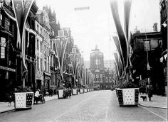 Liverpool Bedecked - Castle Street, Coronation 1953