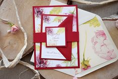 This invitation is a SAMPLE. CUSTOM ORDERS ---> Please, contact me by etsy conversation. ------- This invitation is a piece of a Burgundy Floral Wedding Invitation with Floral Watercolors. All personalized frames turn this invitation more Elegant and sophisticated. If you looking for a