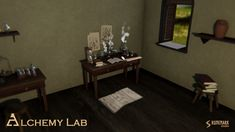 Alchemy Lab contains high quality PBR prefabs suitable for medieval or fantasy alchemy lab, study room, or a natural scientists's chamber. Prefab, Alchemy, Unity, Lab, Layout, Game Dev, Tools, Scientists, Medieval