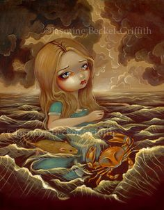 Jasmine Becket Griffith Art Print Signed Alice in The Pool of Tears Wonderland | eBay