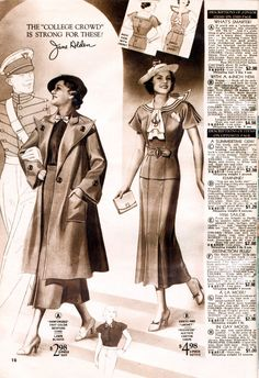 >Has it really been a full week since I last updated?  My how time flies!Here's two pages of 1930s goodness. These are from a 1936 catalog, and sure make my heart flutter! Especially …