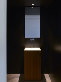Vanety basin in a cloakroom in a private home.