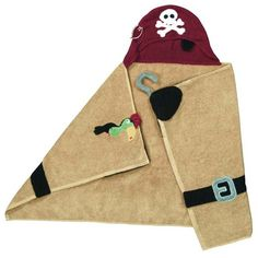 Pirate Hooded Towel- I think I could do this easily enough