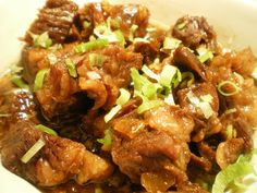 Beef Pares are cubed beef briskets cooked with different spices and tenderized to perfection.
