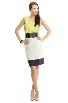 Top Stiched Colorblock Dress