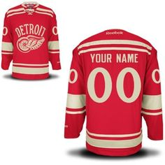 Reebok Detroit Red Wings 2014 Winter Classic Premier Custom Jersey - Red ea09d3f67