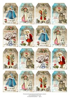 Print Candee - Victorian Christmas - mini tags, $0.00 (http://www.printcandee.com/victorian-christmas-mini-tags/)