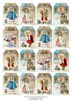 Print Candee - Victorian Christmas - mini tags, $0.00 (http://www.printcandee.com/victorian-christmas-mini-tags/)