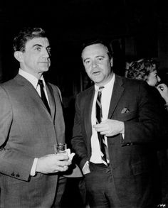 In 1965 with Blake Edwards, director of The Great Race Days of Wine and Roses and That's Life! Blake Edwards, Jack Lemmon, The Great Race, Having A Crush, Crushes, Fictional Characters, Fantasy Characters