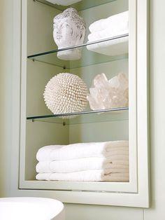 I Like This Idea For A Bathroom. Different Decor But Like The Shelf Idea....