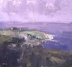 Stuart Shils Farm Fields Lighting Up, From Killena Mayo 2003 oil on paper mounted on board, 12-1/4 x 13-1/8 inches Courtesy Tibor de Nagy Gallery