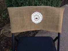 Chair Back Covers Burlap Linen Vintage Lace By R2Rfashions On Etsy, $20.00