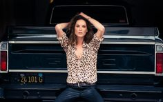 Just a model from Texas and her pickup truck. Erin Wasson | The Coveteur